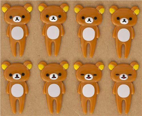 Rilakkuma brown bear food picks for Bento Box Lunch Box