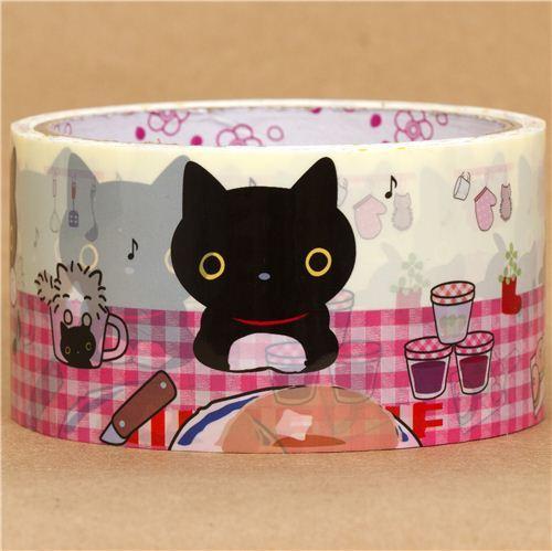 big Kutusita Nyanko cat Deco Tape kitchen table