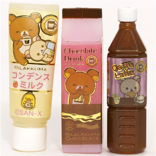 kawaii Rilakkuma bear pencil cap by San-X bottle