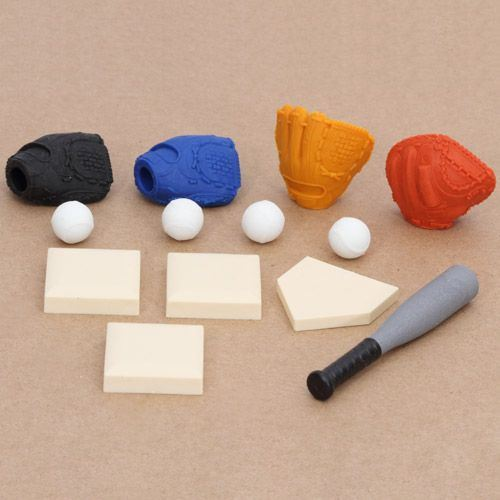 Iwako erasers Baseball 13 pieces set
