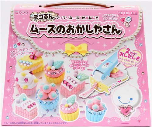 DIY paper mousse clay making kit glitter cupcakes Japan
