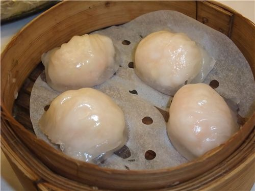 my favorite: Har Gow shrimp dumplings
