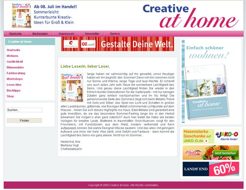 Creative at Home Magazine 1
