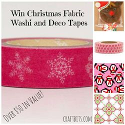 Craftbits Christmas Fabric, Deco Tapes And Washi Tapes Giveaway, ens on December 8th, 2013