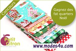 Petit Citron Christmas giveaway with modes4u Xmas fabrics, ends September 25th, 2014