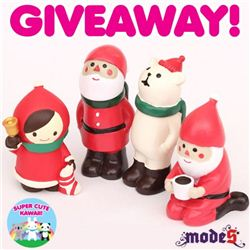 Super Cute Kawaii Christmas giveaway with modes4u Decole Xmas figurines, ends October 14th, 2014