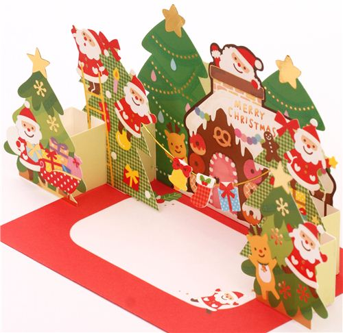 The cards make a lovely Christmas decoration that is easy to place anywhere.