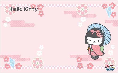 Hello Kitty cherry blossom wallpaper