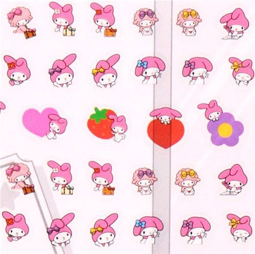My Melody rabbit sheep heart calendar stickers from Japan