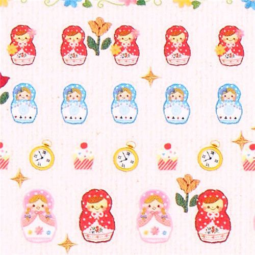 matryoshka Red Riding Hood wolf calendar stickers from Japan
