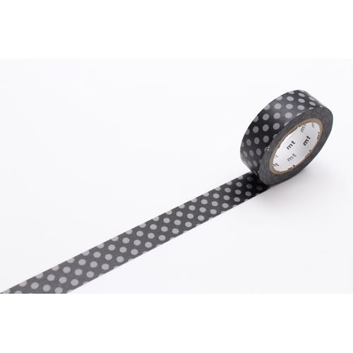 black with grey dot mt Washi Masking Tape deco tape