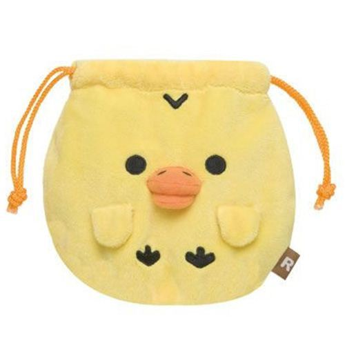 Rilakkuma yellow chick plush pouch wallet cloth bag