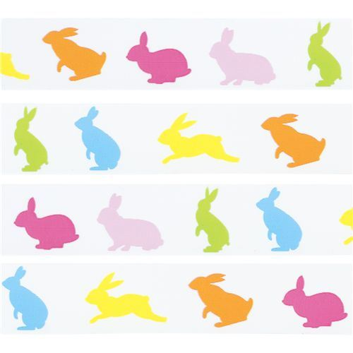 colourful bunny Deco Tape from Japan kawaii