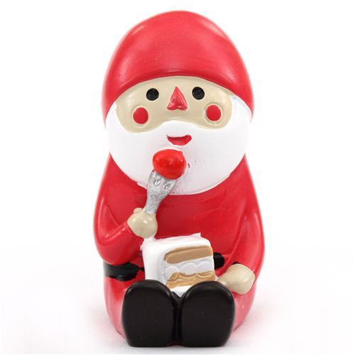 Santa Claus with cake Christmas figurine Japan