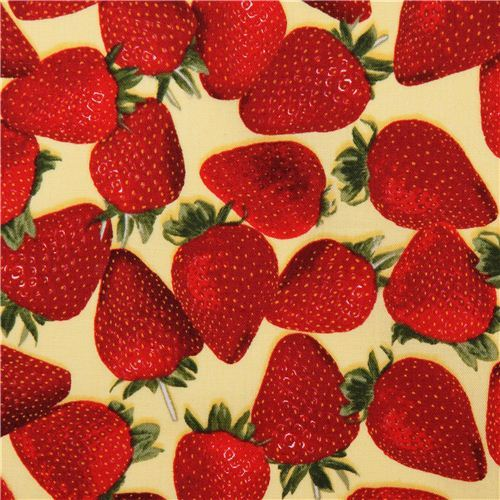 yellow strawberry fabric Fresh Picked Quilting Treasures