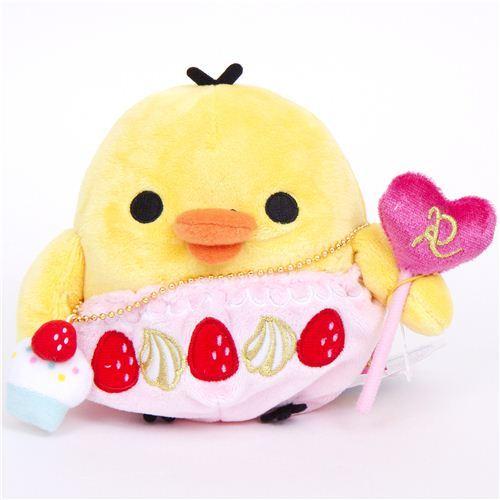 Rilakkuma plush toy yellow chick Kiiroitori cupcake