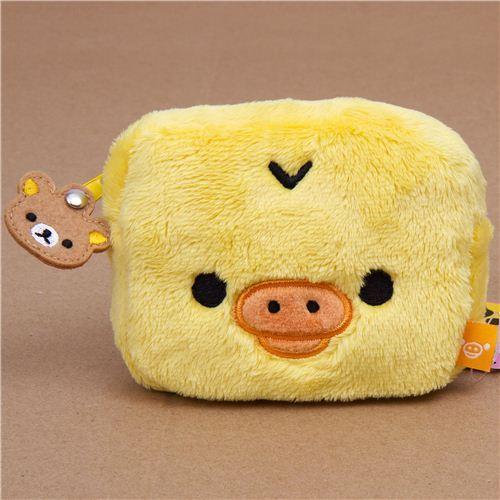 Rilakkuma yellow chick Kiiroitori plush wallet pouch