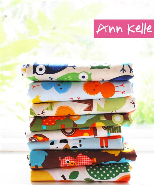 You can win a kawaii fabric bundle sponsored by designer Ann Kelle