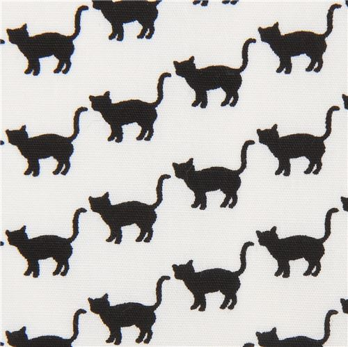 cat animal black Robert Kaufman white fabric Sevenberry Mini Prints