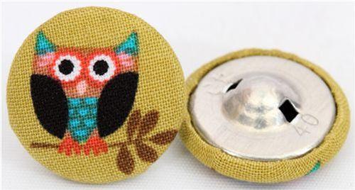 Handmade Michael Miller buttons 2