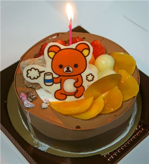The kawaii Rilakkuma birthday cake