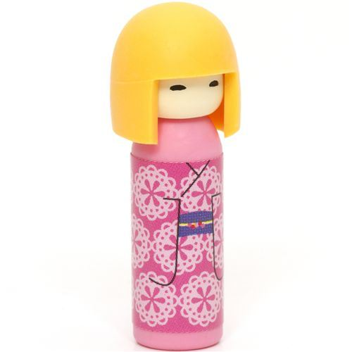 Japanese Kokeshi dolls eraser ornaments from Japan