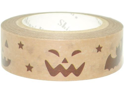 brown with ghost star bat Washi Masking Tape deco tape Shinzi Katoh
