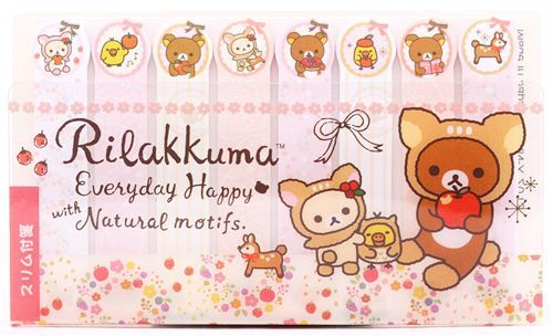 slim deer Rilakkuma index stickers bookmark sticker