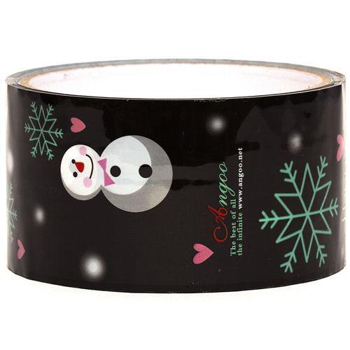 black snowman Sticky Tape christmas snowflakes