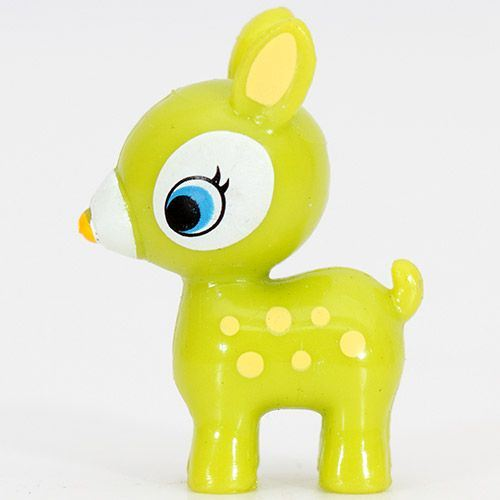cute green Bambi deer miniature figure kawaii