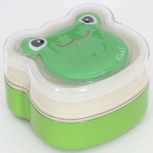 green Frog lacquer Bento Box lunch box cool gel pad