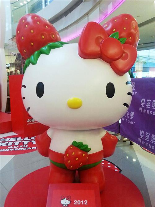 Strawberry Hello Kitty from 2012, picture from U-Tavel Hong Kong