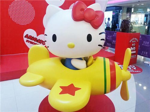 Hello Kitty in airplane, picture from U-Tavel Hong Kong