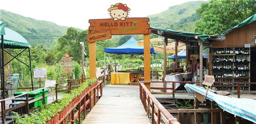 The entrance of the Hello Kitty Farm