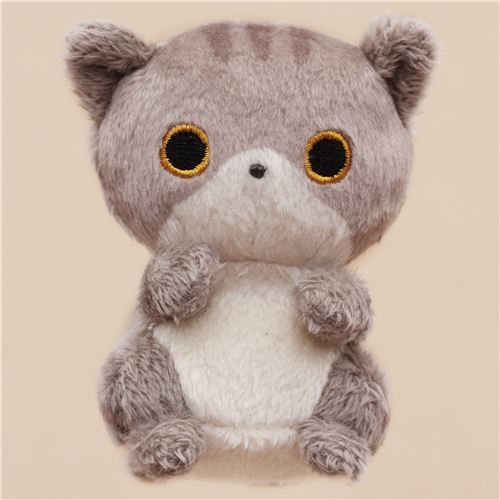 cute small grey cat animal plush toy