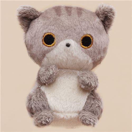 cute small grey cat animal plush toy