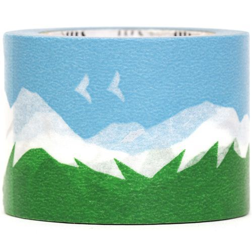 wide mt Washi Masking Tape deco tape with mountain scenery