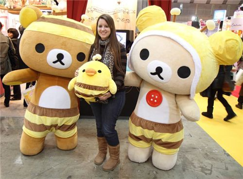 I met Rilakkuma and his friends!