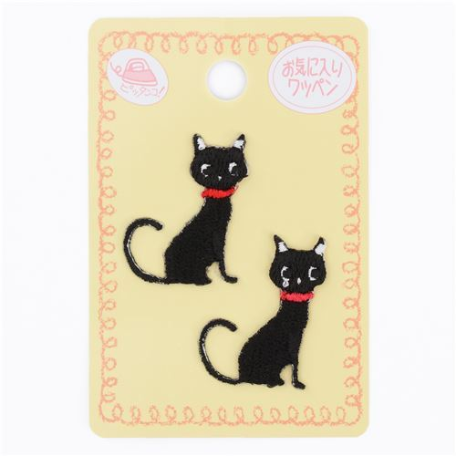 small black cat iron-on transfer sheet 2 piece