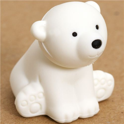 white bear eraser by Iwako from Japan