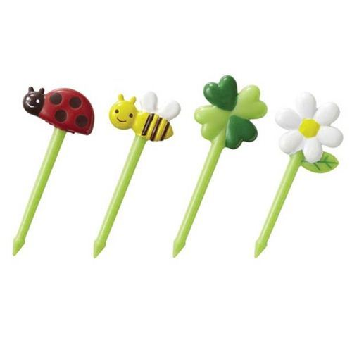 cloverleaf bee bug food picks for Bento Box Lunch Box