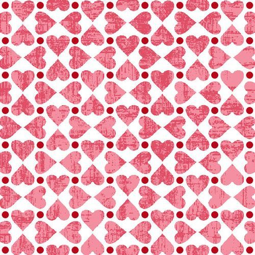 white pink mini heart fabric by StudioE 'Hugs & Kisses'