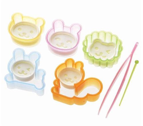 squirrel bear lion rabbit Bento food cutters