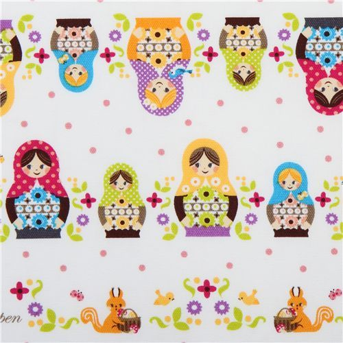 cute Russian dolls Kokka fabric from Japan babushka