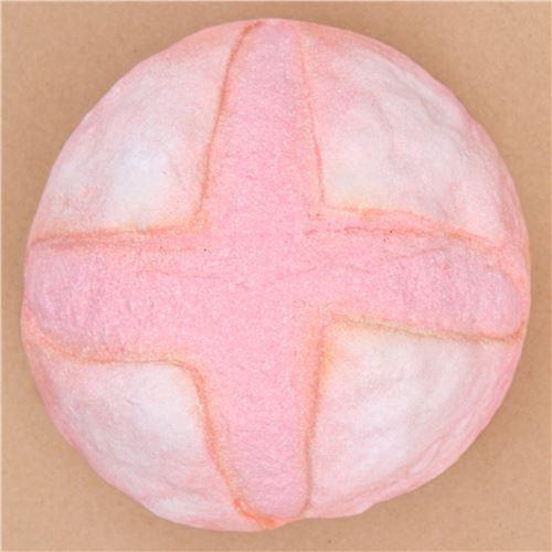 cute big pink crusty strawberry bun bread scented squishy by Puni Maru