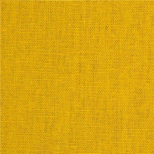 solid mustard coloured echino canvas fabric from Japan