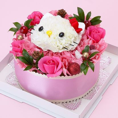 A lovely Hello Kitty rose bouquet. Suitable for a little princes.