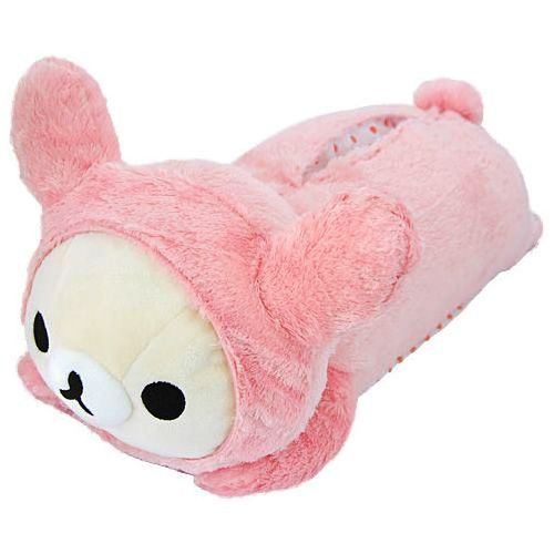big on tummy lying Korilakkuma plush bear tissue box