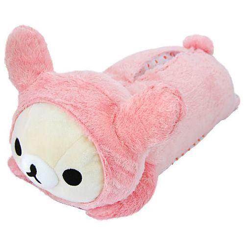 big on tummy lying Korilakkuma plush bear tissue box