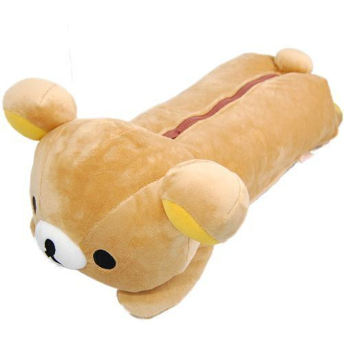 big on tummy lying Rilakkuma plush bear tissue box